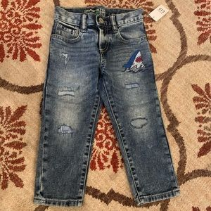 Baby Gap shark jeans 2T New with tags